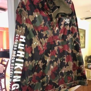 Adidas Pharrell Williams Camo Windbreaker XL EUC